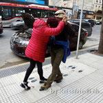 Spontane Tangolektion auf der Strasse