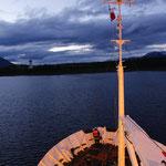 Auslaufen von Puerto Williams mit der PolarPioneer