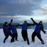 Swiss-Delegation auf dem Festland der Antarktis