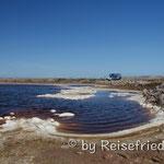 Fahrt durch die Salzgewinnungsgebiete