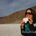 Salz-degustation Death Valley