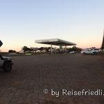 Einer unserer Tankstellen-Übernachtungsplätze