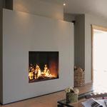 Foyer à bois Design - Grand caisson moderne