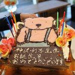 """本日のケーキは、三鷹駅近くの""""ふらんすや""""さんで、特別に作っていただきました。"""