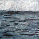Marmormehl, Acrylfarbe, 80 x 80 cm