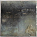 Acrylfarbe, Marmormehl, Spachtelmasse, 60 x 60 cm