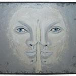 Acrylfarbe, Sand, 70 x 50 cm