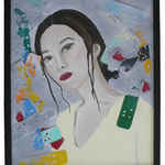 Acrylfarbe, Plastikartikel, 40 x 50 cm