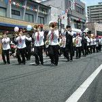 21日(土)音楽大パレード♪寿通りを彩りました。竹田公園まで、がんばれ~!!
