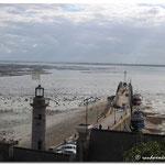 le port de Cancale à marée basse
