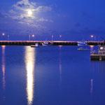 le port le soir