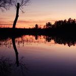 Sonnenuntergang in Schweden, Smaland