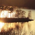 Sonnenuntergang über der 6 Seenplatte, Duisburg