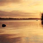 Sonnenaufgang am Asnen Schweden, Smaland