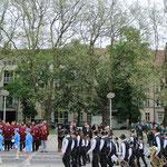 """Generalprobe der Orchester. Gemeinsam wurden zwei Märsche intoniert, darunter der Marsch """"Alte Kameraden"""""""