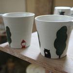 半磁器土森のクマさんカップ