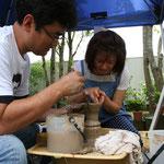 まのめさんの陶芸体験