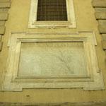Borgo Pinti - Lapide esterna sulle benemerenze di Papa Urbano VIII Barberini