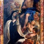 Firenze, Borgo Pinti, Luca Giordano, Sposalizio mistico (sec. XVII)