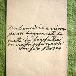 Un autografo di S. Giovanni Bosco
