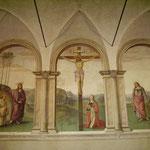Borgo Pinti - Ex sagrestia delle Carmelitane, affresco del Perugino