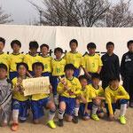 【2018年4月】第15回射水市ケーブル杯(U-12) 準優勝