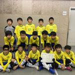 【2019年12月】第5回Kurobe Cupフットサル大会(U-11) 準優勝