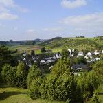 Die Eifel ist herrlich. Da kann man Stunden lang spazieren gehen. Wunderschöne Aussicht in die Ferne.