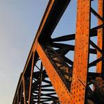 125 jahre Rheinbrücke Wintersdorf bei Rastatt im Abendlicht, © Fotos Peter Diziol