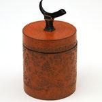 Boîte à thé corne sur bronze AC1 - 13 x 10 cm - 220€