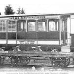 Voiture du tramway, ligne N°1, roulant entre Limoges et Aixe-sur Vienne
