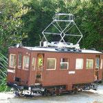 Maquette d'une voiture du tramway