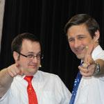 Nos deux présentateurs préférés : Jonathan Brice & Hervé Canonne.