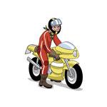 characters biker - client: adac