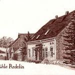 Alte Mühle zu Redefin II, Sepiastift (Auftragsarbeit)