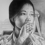 Vietnamesin, Bleistift (verkauft / sold)