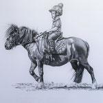 Future Jockey, Bleistift (Autragsarbeit)
