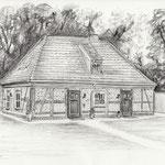 Gärtnerhaus im Landgestüt Redefin, Bleistift