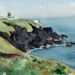 Küste von Pembrokeshire (Wales), Aquarell  (ZU VERKAUFEN/ FOR SALE)