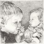 Hauke und Meta, Bleistift (Auftragsarbeit)