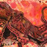 Kraken, Aquarell & Fineliner (verkauft/ sold)