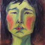 Mongolin, Pastellkreiden (unverkäuflich)