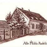 Alte Mühle zu Redefin I, Sepiastift (Auftragsarbeit)