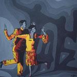 Tanz, Acryl auf Holz (FOR SALE / ZU VERKAUFEN)