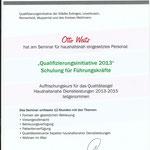 Qualifizierungsinitative 2013