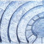 2003, aalto theatre essen, watercolour