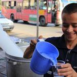 Eiswasser mit Rosengeschmack gibt's gratis auf der Strasse