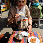 Türkischer Tee, türkischer Kaffee, türkısches Dessert