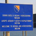 Dobro Dosli für ein paar wenige Kilometer...