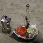 Ein weiteres mal im trockenen, mit Kaffee und Grappa, Gute Nacht